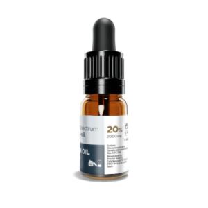Fritlagt billede af 20% 2000 mg fuld spektrum CBD olie fra Scandinavian Oil
