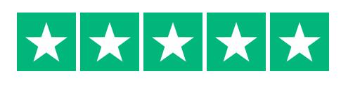 Billede af Trustpilot logo med 5 stjerner